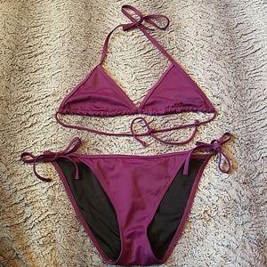 Victoria secret purple bathing suit